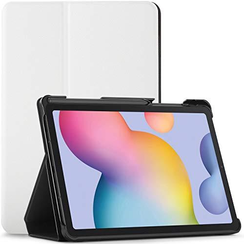 FC Hülle für Samsung Galaxy Tab S6 Lite - Schutz Galaxy Tab S6 Lite 10.4 Hülle Ständer mit S Pen Halter - Weiß - Smart Auto Schlaf/Wach, Samsung Galaxy Tab S6 Lite 10,4 Zoll 2020 Hülle, Tasche