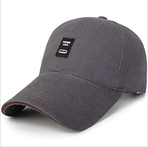 SLM-max Sombrero cálido,Moda Mujer Hombre Sprint Verano Exterior Esencial de Mujer Hombre y otoño Gorra de béisbol Visera Exterior de Hombre Algodón Casual Sol de Mujer Gorra Suave (Color: Gris o