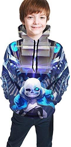 YeeATZ Sudadera unisex con capucha con estampado 3D de Children's Hoodies Un-der-Tale para chicos, chicas, adolescentes y niños