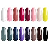 MEFA 18 Pcs Soak Off Gel Nail Polish, 16 Colors Gel + 1 Base Coat + 1...