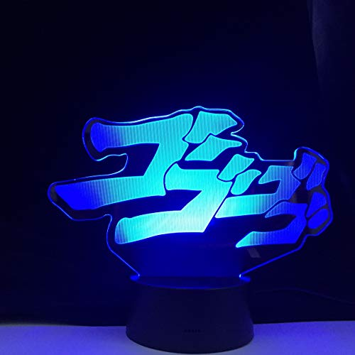 Only 1 Piece Bizarre Anime Adventure Letter Design Led Night Light Touch Sensor Colorful Night Light Home Decoration Table 3D Light Gift
