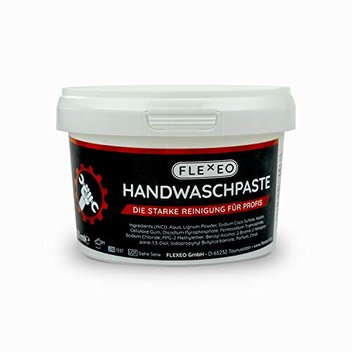 FLEXEO Handwaschpaste - Die Handwaschpaste für Profis | 500 ml Dose | Seife | Handreiniger | Werkstatt | 1 Dose
