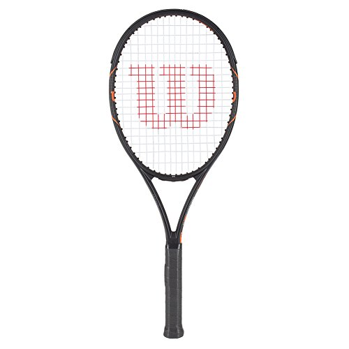 Wilson Burn FST 95 TNS FRM W/O Raqueta de Tenis, Unisex Adulto, Negro Mate/Naranja (Matte Black/Orange), 5
