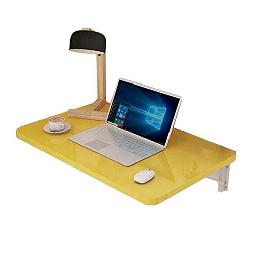 Unknow Mesa Plegable de Pared Mesa de Comedor Mesa de Pared Escritorio para computadora Nota Tabla 13 Tamaños (Color: Amarillo, Tamaño: 100 * 50)