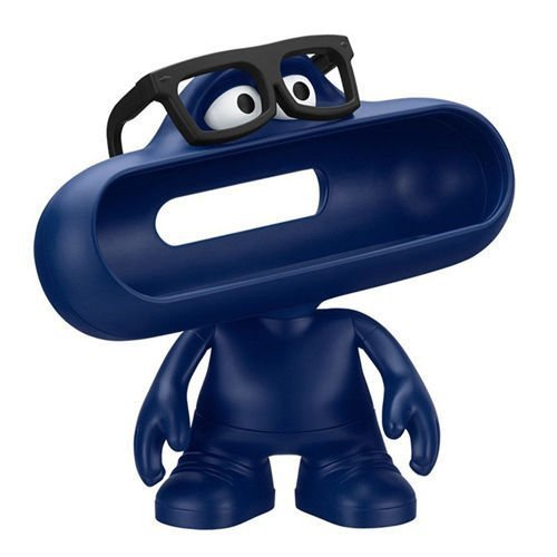 Xinkaize New Blue Doll Dude Holder Case W/Glasses para Beats by Dr.Dre Pill Bluetooth Speaker