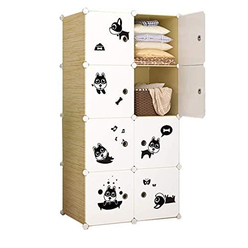 JIAWYJ XIAOJUAN Closet Casual Locker Locker Wardrobe Organizer Storage withdoor Divide-Grid Estanterías Combinación de Ropa Casa de pie Dormitorio (Tamaño: 7 6X37X111CM) (Size : 76X37X147CM)