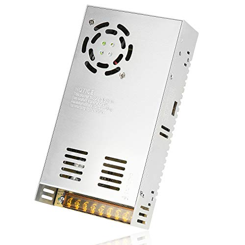 LEDMO 24V 20A 480W Transformador de Potencia, Fuente de Alimentación, Transformador de Voltaje para la Tira de LED