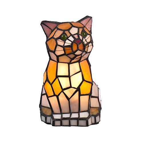 Casa Padrino Tiffany Tiffany - Lámpara de mesa con forma de gato