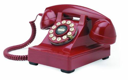 Teléfono fijo estilo clásico, color rojo [Importado de Reino Unido]