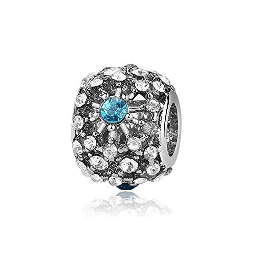 YOYNZY Ajuste Original Pandora Pulseras Plata De Ley 925 DIY Charms Bead Blue Clear Cz Princess...