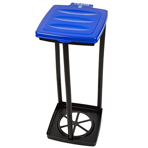 Wakeman Portable Trash Bag Holder- Collapsible Trashcan for Garbage and Indoor/Outdoor Use Outdoors -Ideal for Camping Recycling and More (Blue) (75-TB1006)