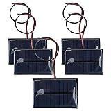 Cargador de panel solar, DC5V 150mA 5Pcs Panel...