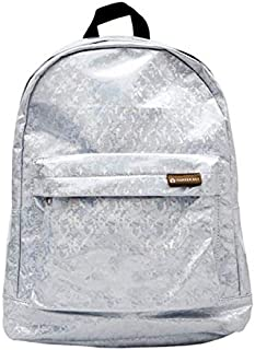 Super Shimmery Holographic Backpack with Padded Straps. One Outer Pocket and one Inner Sleeve. H 34cm x L 41cm x D 16cm. Be Prepared for Shiny rainbowy Awesomeness.