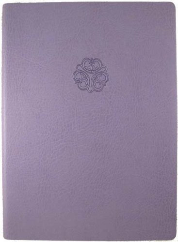 Lavender Embossed Celtic Knot Faux Leather Journal - Lined