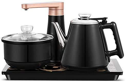 Kaffee-Tee-Zubehör Vollautomatische Wasserwasserkocher Home Cooking Wasserflasche Pumping Elektro Tee Herd Set,Schwarz