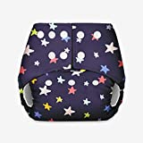 Basic - Certified Soft Fleece Lined Pocket Diaper ONLY (Without Any Soaker) (Blue Star)
