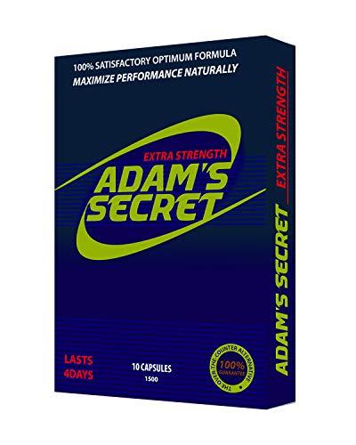 ADAMS SECRET 1500 100% Natural Pills for Men Boost Your Performance, Energy, and Endurance 10 Pills Per Pack
