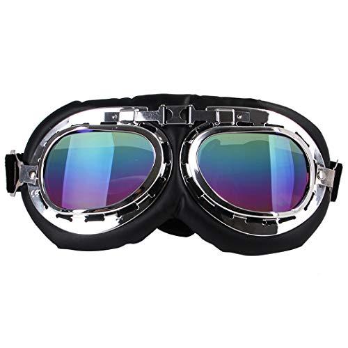 JGHH Hundesonnenbrillen UV-Schutz Hundebrille Hundeschwimmbrillen Zubehör Skating mit großem Rahmen und Hund Harley Brillen,A