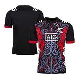 DIWEI Camiseta De Rugby De Local Maorí De Nueva Zelanda, 2018-2019 Camiseta Deportiva Informal Camiseta De Aficionado, Camiseta De Entrenamiento De Aficionados De Manga Co XXXL