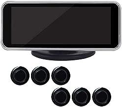 LCD Digital Sensor de Aparcamiento Kit Delantero y Trasero Coche Marcha Atrás Soporte Radar Sistema, 6/8 con Pantalla LED Sonido Aviso - Negro 8 Sondas, Free Size