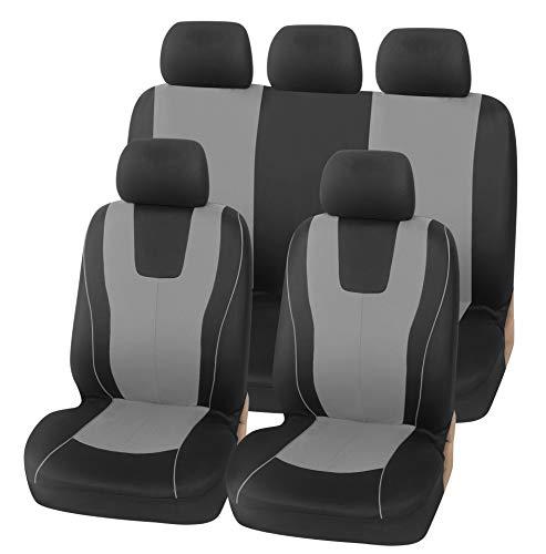 Fundas protectoras para asientos de automóviles Protectores Conjunto universal de tela,Gris