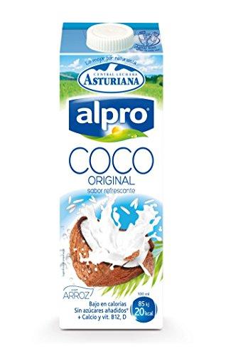 Alpro - Bebida de Coco UHT con Arroz, 100% Vegetal, Enriquecida con Calcio, Apta para Veganos, Brik de 1 litro - 1 x 1000ml