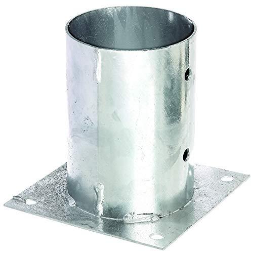 GAH-Alberts 211806 Aufschraubhülse | für Rund- oder Vierkantholzpfosten | feuerverzinkt | Ø121 mm