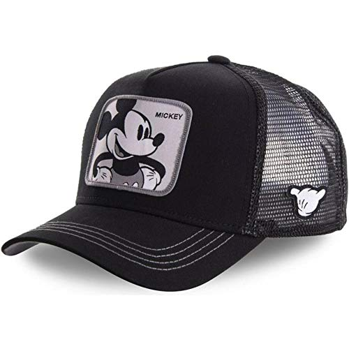 WULIAN Marke Pink Panther Snapback Baumwolle Baseball Cap Männer Frauen Hip Hop Papa Mesh Hut Trucker Hut Dropshipping, Mickey Black