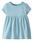 Moon and Back by Hanna Andersson Vestido de Punto Infant-and-Toddler-Playwear-Dresses, Turquesa Medio, 18-24 Months