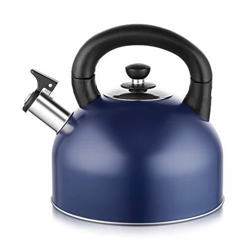 tea kettle stovetop blue - 8