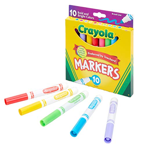 Crayola Broad Line Markers, Bold &a…