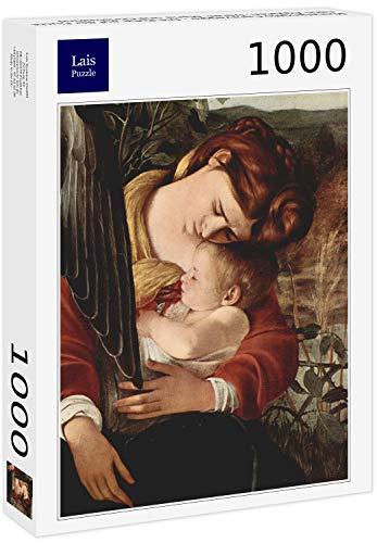 Puzzle Michelangelo Caravaggio   El Resto en la huida a Egipto, Detalle: María y el Niño Jesús 1000 Piezas