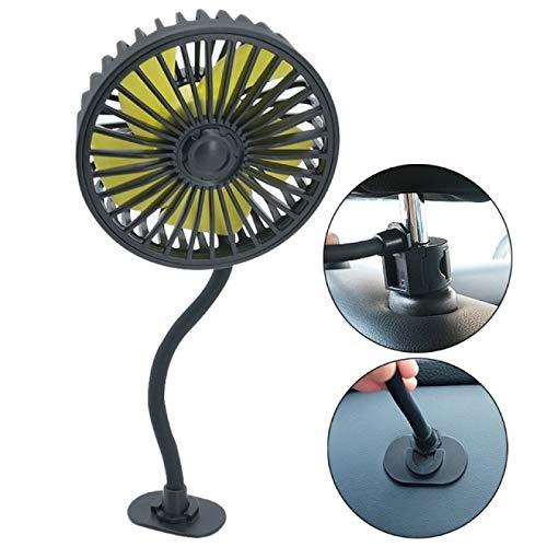Aiong Pequeño Ventilador, VentiladorUSB delreposacabezas del Asiento Trasero del Cochecon Ventilador de refrigeración por Aire del Interruptor