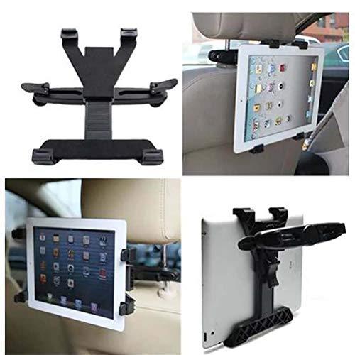 wuwenjun Soporte de Montaje Giratorio para reposacabezas Trasero de vehículo de Coche ABS para iPad/Todos los Soportes de Tableta pc/GPS/TV/DVD Accesorios de Coche