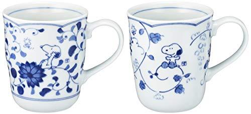 Snoopy Peanuts Blue and White Kanesho Pottery Pair Mug 630740(Japan import)
