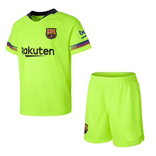 Kit - Anpassbar - FC Barcelona Kinder Auswärts Trikot und Short Set. Offizielles Produkt Replica 2018/2019 (12 Jahre)