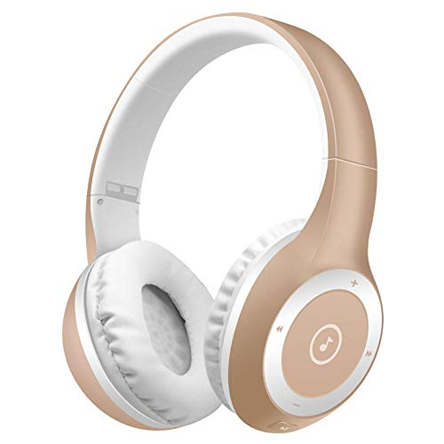 Best Shopper - T8 Stereo Bluetooth Over- Ear Headphones Wireless Folding Gaming Headset with Microphone - Gold