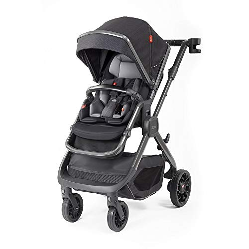 Diono Quantum2, 3-in-1 Luxury Multi-Mode Stroller, Black Cube (72305)