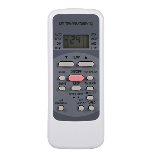 Fdit Control Remoto de Aire Acondicionado para Midea R51M/E, Controlador Universal de Aire Acondicionado Compatible Toshiba, para Electrolux, para Conia, para VESTEL