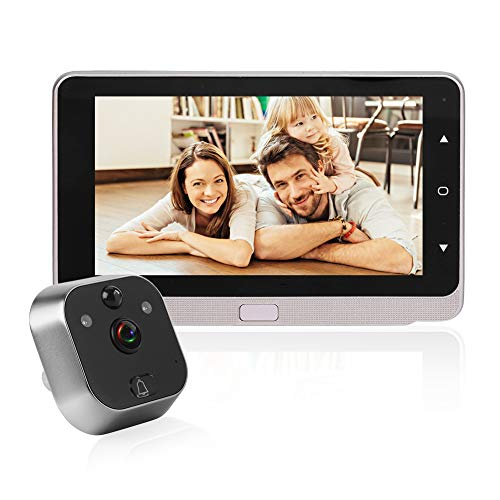Preisvergleich Produktbild HD Tür Security Peephole Viewer,  5 Zoll LED-Bildschirm Video-Türklingel Zuschauer-Kamera,  mit IR-Nachtsicht / Bewegungserkennung / Automatisches Fotografieren / 160 ° Weitwinkelobjektiv