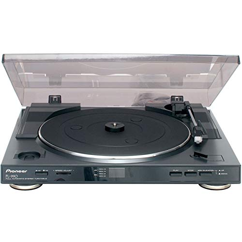#01 GIRADISCHI MEDIAWORLD - Pioneer PL-990, Giradischi stereo completamente automatico, Nero