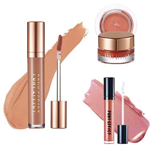 PONY EFFECT Stayfit Matte Lip Colour + Galaxy Lip Gloss + Unlimited Shadow Set
