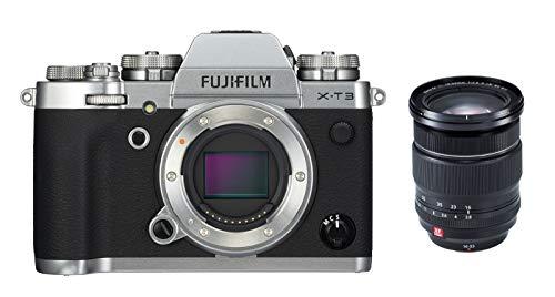 Fujifilm X-T3 - Cámara de objetivo intercambiable sin espejo, con sensor APS-C de 26,1 Mpx, video 4K/60p DCI, pantalla táctil, WIFI, Bluetooth, plata, Kit con objetivo X-T3 + XF16-55mm