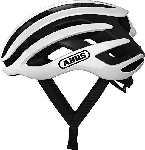 ABUS AIRBREAKER Rennradhelm - High-End Fahrradhelm für den professionellen Radsport - Unisex, für Damen und Herren - 81731 - Weiß, Größe S