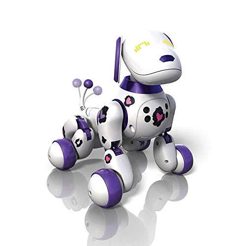 Zoomer Dog Funky Girl 2.0 Purple Spots 2X the Tricks by Spin Master