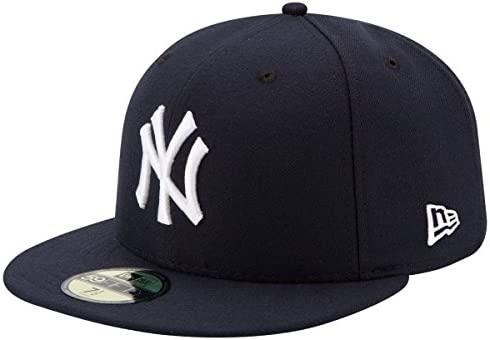 New Era Mens New York Yankees MLB Authentic Collection 59FIFTY Cap Size 7 5 8 product image