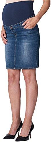 ESPRIT Maternity Damen Skirt OTB mid Umstandsrock, Blau (Stonewash 930), (Herstellergröße: 38)