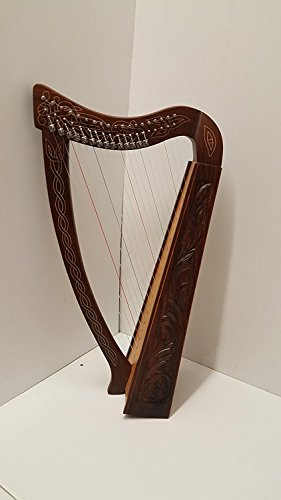 22 Strings Lever Harp Celtic Irish Style Solid wood free Carrying Bag strings and Tuner
