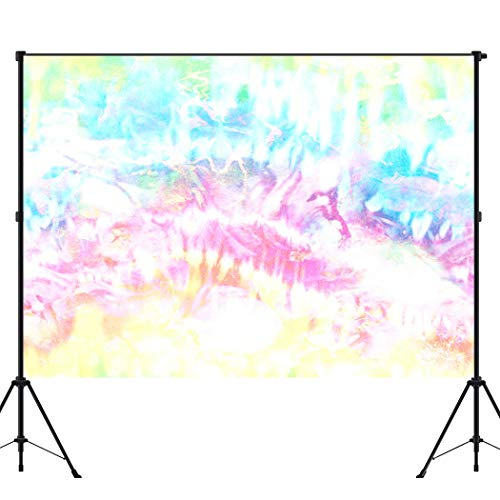 BEEQY Tie Dye Photography Backdrop, Tie Dye Distorted Pastel Orange Faded Vinyl Photo Background Photography Booth Props Wall Decoration, 6 x 8FT