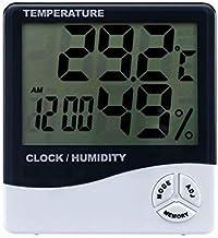 Termómetro Higrómetro LCD interior Temperatura electrónica Medidor de humedad Termómetro digital Hygrómetro Estación meteorológica Reloj despertador Digital Termohigrómetro ( Color : A )
